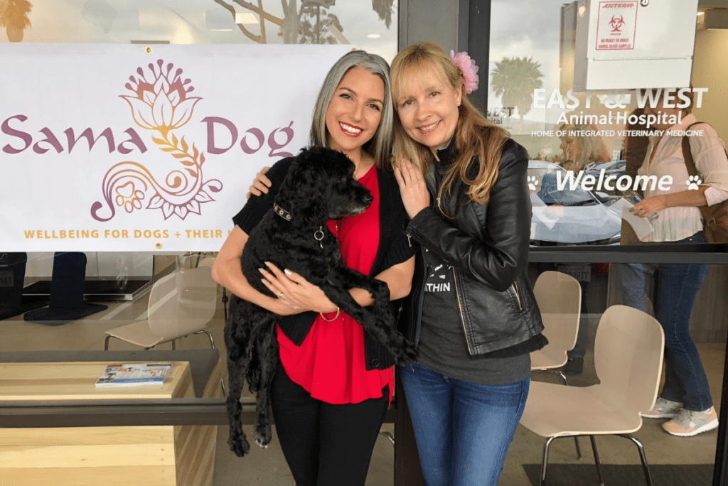 kathleen prasad and amanda ree of sama dog