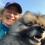 cathy malkin and her dog