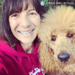 reiki teacher karren o'sullivan and her dog